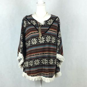 Earthbound Aztec Poncho One Size